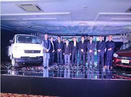 pak suzuki motor pany limited hosted a launch event to introduce 4 new s cultus auto gear shift mega carry gr 150 and gsxr 600