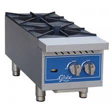 globe ghp12g gas countertop hot plate 12 2 burners