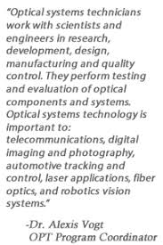 optical technology engineering technologies monroe community  dr alexis vogt quote