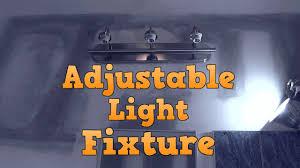 How To Center A Bathroom Light Fixture Making A Light Fixture Adjustable