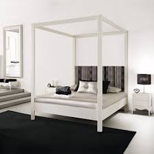 modern four poster bed. Perfect Four Modern White Four Poster Bed In Juliettes Interiors