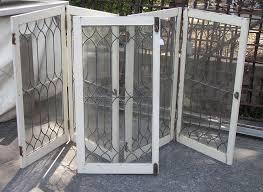 antique leaded glass doors