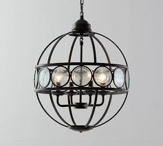 great recycled glass chandelier black iron frame orb south africa diy bottle sea pendant beaded