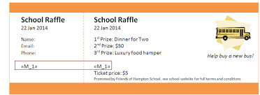 Print Raffle Tickets At Home Using Mail Merge To Print Numbered Raffle Tickets At Home