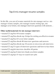 Mis Officer Sample Resume Top224mismanagerresumesamples150240224062723conversiongate224thumbnail24jpgcb=12422242492242246 19