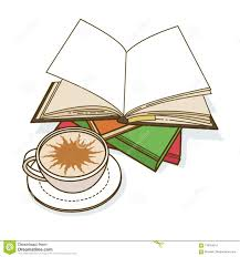 stack of books and cup of coffee vector ilration stock vector ilration of