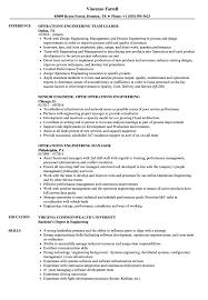 Operations Engineering Resume Samples Velvet Jobs