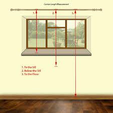 measure for curtain length
