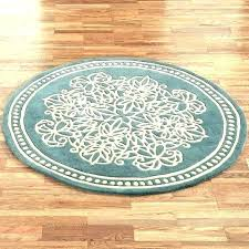 large black circle rug small round circular area rugs ft wool indoor decoration
