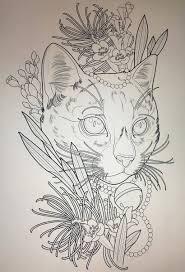 Cat Tattoo Design Neotraditional Tattoos татуировка кошка