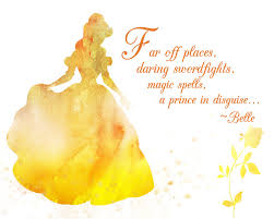 Quotes From Belle In Beauty And The Beast Best of Belle Beauty The Beast Watercolor Silhouette With Quote 24 X 24