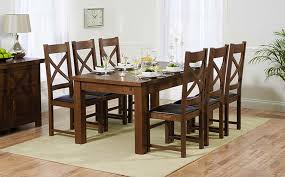 view all dark wood dining sets