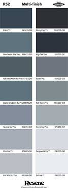 Resene Paint Chart Colour Charts