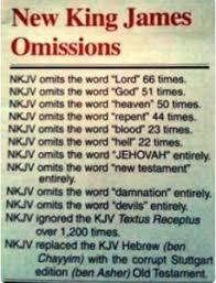 Kjv Vs Nkjv Comparison Chart Bible Versions Todd Tomasella Safeguardyoursoul