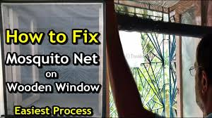 Wood Window Screen Designs How To Fix Mosquito Net On Wooden Window How To Make Removable Velcro Window Mesh Screen