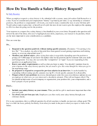 how to include salary requirements in a cover letters how to include salary history in a cover letter 10 how to submit
