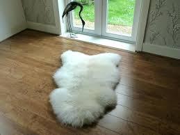 white costco sheepskin rug