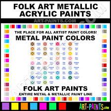 Folk Art Paint Chart Folk Art Metallic Acrylic Metal Paint Colors Metallic