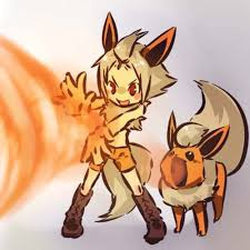 Eyes close tighter danger zone: Pokemon Pokemon Gijinka Pokemon Flareon Pokemon