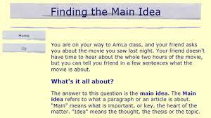 Fifth Grade Language Skill Builders Main Idea