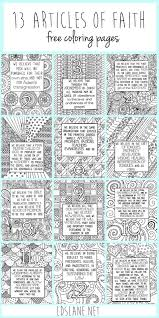 13 Articles Of Faith Coloring Pages By Lds Lane Live It Love It