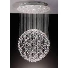 diyas colorado suspended crystal sphere large ceiling pendant chrome