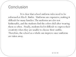 revising let s make those essays shine ppt video 8 88 conclusion it is clear that school uniform
