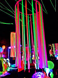 Decoration Stuff For Party Neon Flagging Tape On Hulla Hoop Glow Party Decoration Fnid More