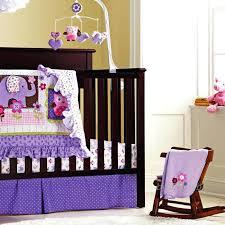 purple owl crib bedding lavender gray