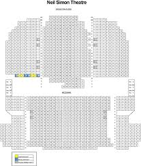 Seating Chart For Neil Simon Theater In Nyc Neil Simon Theatre Seating Chart Theatre In New York