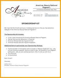 Cover Letter Sponsorship Sponsorship Letter Doc