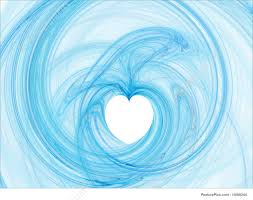 blue heart background. Beautiful Blue Abstract Forms Blue Fractal Heart Background On Blue Heart Background K