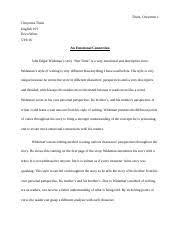 interpretive essay example jacob goldsmith hal hinderliter eng 15 pages finalexam