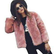 2018 plus size pink faux fur coats long sleeve fluffy winter jackets coats women fashion streetwear black fake fur coat outerwear 18 from clothesb1988