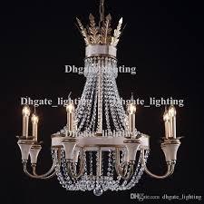 vintage retro crystal chandelier lamps wrought iron large crystal chandelier lighting for hotel lobby living room island pendant lights pendant lights over