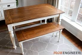 diy solid oak farmhouse table free easy plans