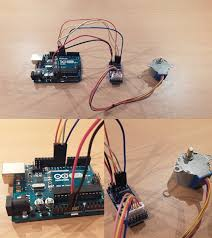 pin layout that shows how to connect a 28byj 48 stepper motor to a uln2003a