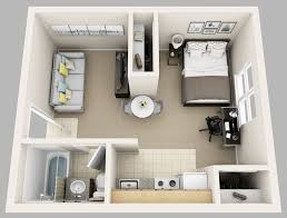 Enjoyable Ideas One Bedroom Studio Apartments Apartment Plans  Internetunblock Us