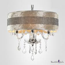 stunning plastic crystal embedded shade clear crystal droplets chandelier ceiling light onlywonderful com