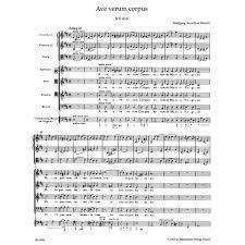 ave verum corpus sheet music w a ave verum corpus k 618 urtext