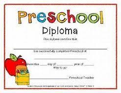 Image Result For Preschool Graduation Certificate Template