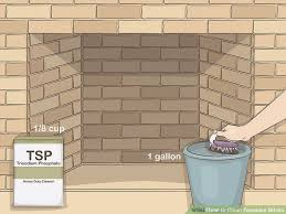 image titled clean fireplace bricks step 5