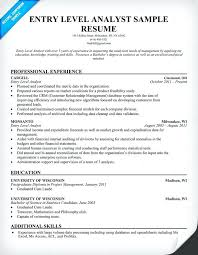 Sample Resume For Business Analyst Entry Level Business Analyst