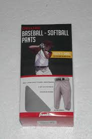 Franklin Sports 10365 Youth Classic Extra Small Fit Deluxe Baseball Pants Gray