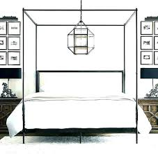 Wrought Iron Canopy Bed Full Size Frame Bedroom Sets – Examples ...