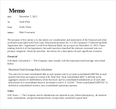 Memo Report Samples Memo Report Sample