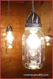 How To Make Mason Jar Lights Lighting Change In The Guest Bath Creative Cain Cabin