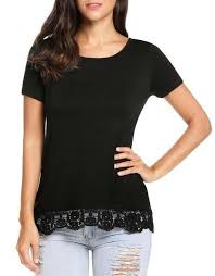 Meaneor New Women Casual O Neck Short Sleeve Hem Patchwork