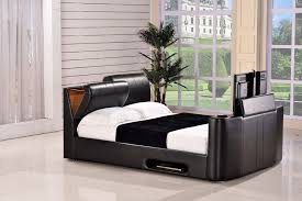tv bed with storage. Unique Bed Paris King Size Ottoman TV Bed U2013 Black  Raised Storage Open And Tv With E