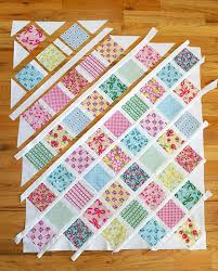 Baby Quilt Patterns Fascinating Lattice Baby Quilt Tutorial